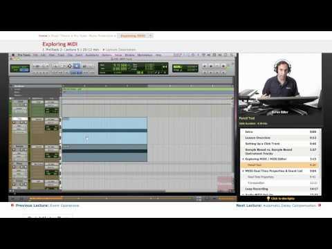 Pro Tools: Exploring MIDI