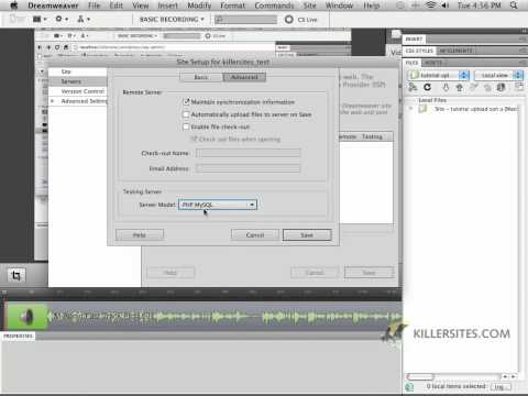 Wordpress Using Dreamweaver - Define A Site In Dreamweaver