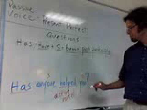 Passive Voice, Questions in the Present Perfect Tense