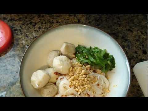Thai Tom Yum Noodle Soup  ก๋วยเตี๋ยวต้มยำน้ำแห้ง