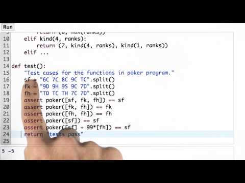 Testing Hand Rank - CS212 Unit 1 - Udacity