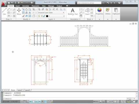 Preview the User Interface — AutoCAD LT 2011