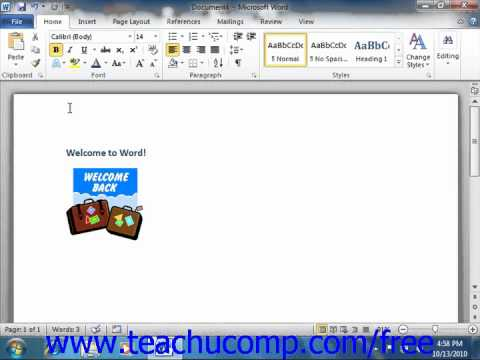 Word 2010 Tutorial Keyboard Shorcuts Microsoft Training Lesson 1.15