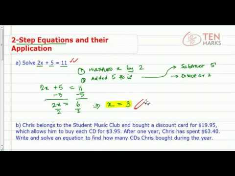 Two Step Equations and Their Applications