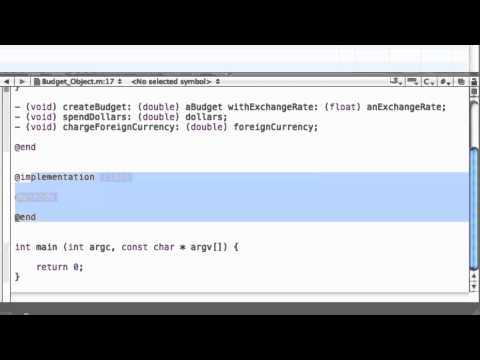 Objective-C Tutorial - Lesson 17: Creating The Implementation (Methods)