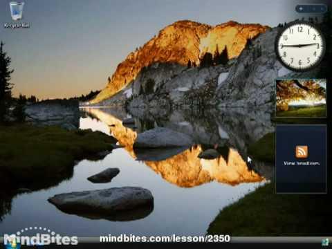 Vista Lesson 9: The Windows Sidebar