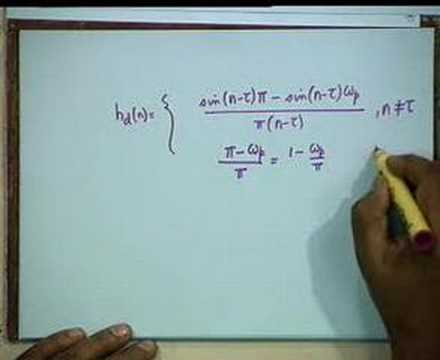 Lecture - 40 FIR Design by Windowing & Frequency Sampling