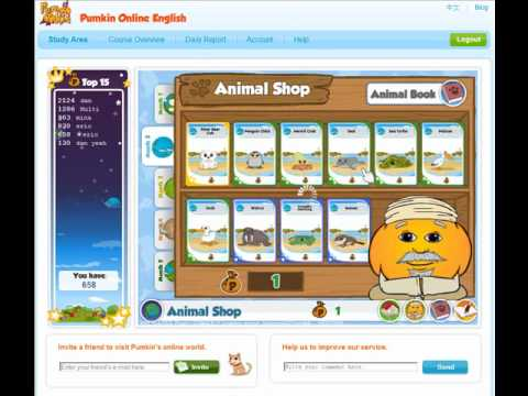 Online English Tutorial - Student Reward Systems for Learning English using the Pumkin.com Website