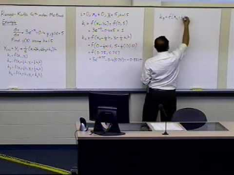 Runge Kutta 4th Order Method: Example Part 1 of 2