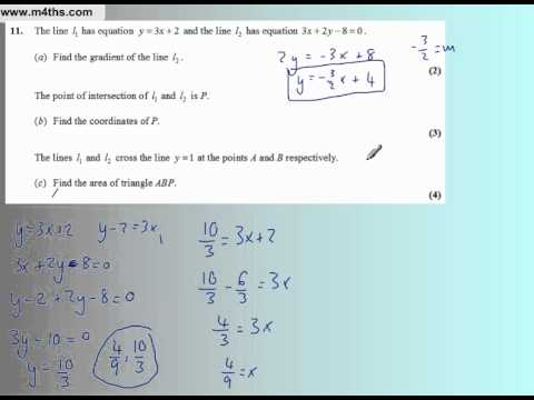 Core 1 Edexcel May 2007 (Q11 Quick worked solutions)