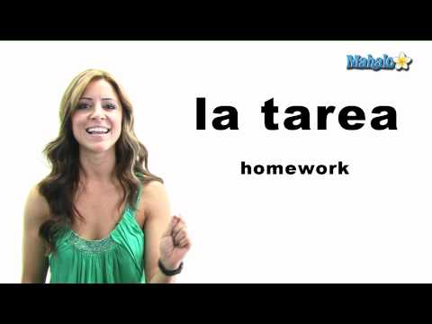 "How to Say ""Homework"" in Spanish"