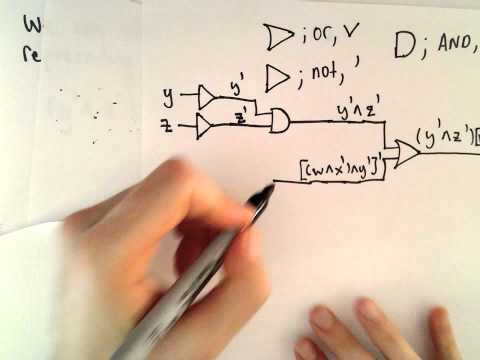 Logical Gates ( Drawing a Circuit that Corresponds to a Boolean Expression ) - Part 4