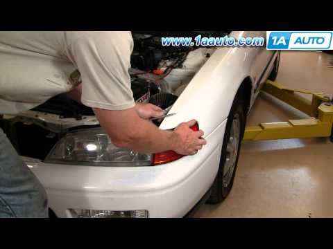 How To Install Replace Front Bumper Cover Honda Accord 94-97 1AAuto.com