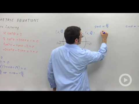 Precalculus - Trigonometric Equations that Require Factoring