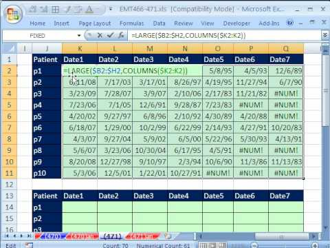 Excel Magic Trick 471: Sort Horizontal With Formula 3 Examples