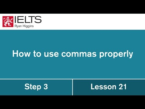 IELTS Tip! How to use commas in your IELTS writing!