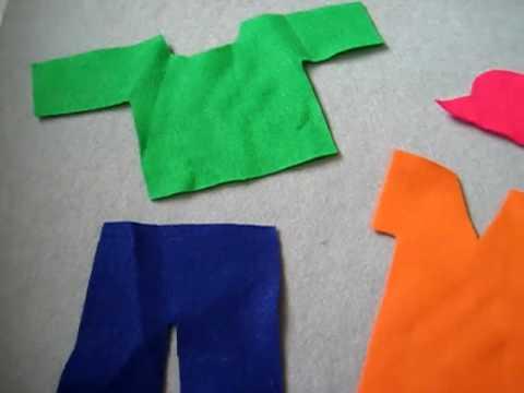 Preschool-Social Studies. Folding clothes practice
