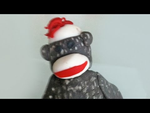 how to make a fondant sock monkey cake decorating tutorial- Ann Reardon How To Cook That Ep019