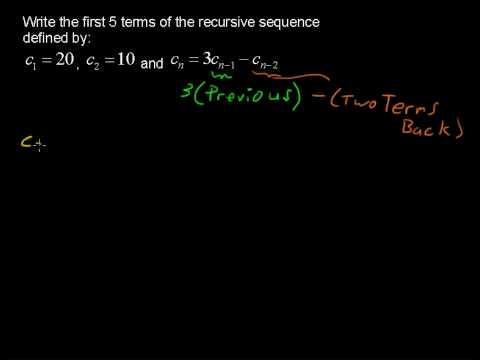 Recursive Sequences - Precalculus Tips