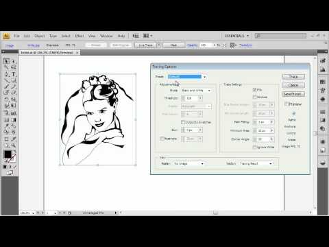 Adobe Illustrator CS4 Advanced Turn a Bitmap into a Vector Illustration using Live Trace