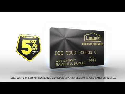 Lowe's Accounts Receivable -- Business Credit