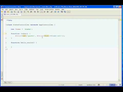 Cakephp Blog Tutorial Part 3 - Using the Find Method