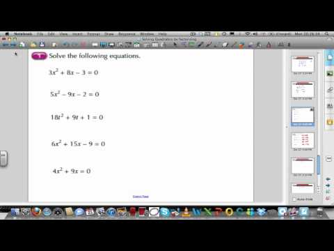 Solving quadratics by factorising (part 2 of 2)