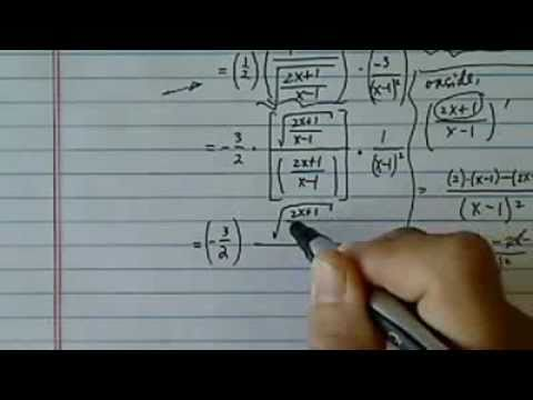 Differentiate using Power & Chain Rules: f(x)=sqrt [2x+1/x-1]