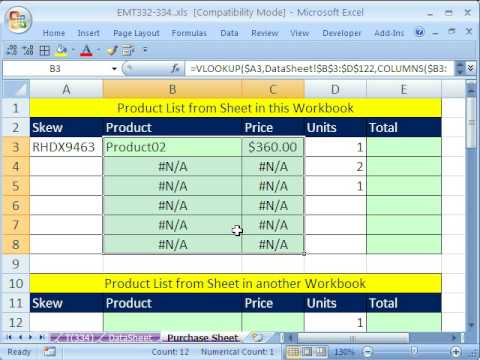 Excel Magic Trick 334: VLOOKUP & Data Validation for Invoice