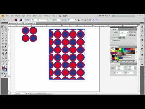 Adobe Illustrator CS4 Advanced Resizing - Scaling Pattrens - Change Pattern and Update