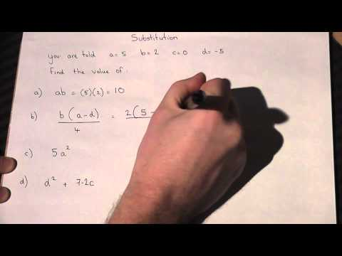 Substitution into formula: GCSE maths revision tutor: