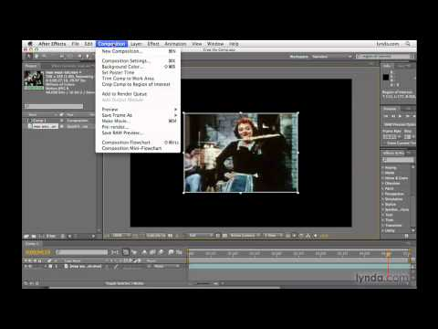 After Effects: Visually adjusting the pixel size of a comp   lynda.com
