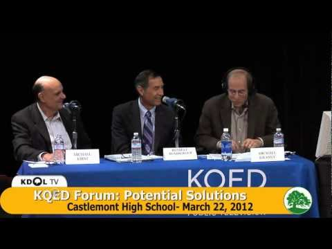KQED Forum on the Dropout Crisis and Potential Solutions - 3/22/12 at Castlemont High
