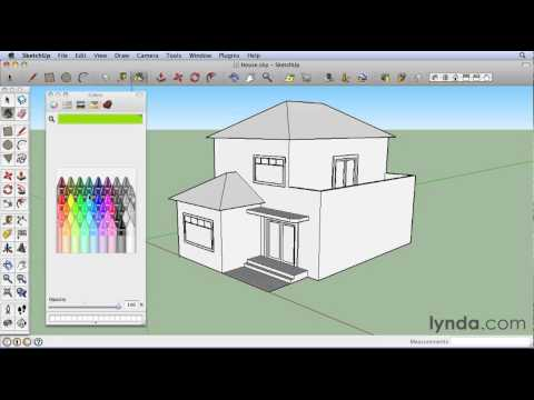 Google SketchUp: Exploring the Materials interface | lynda.com tutorial