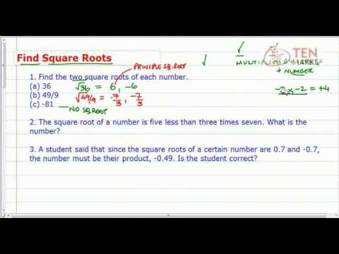 Find Square Roots