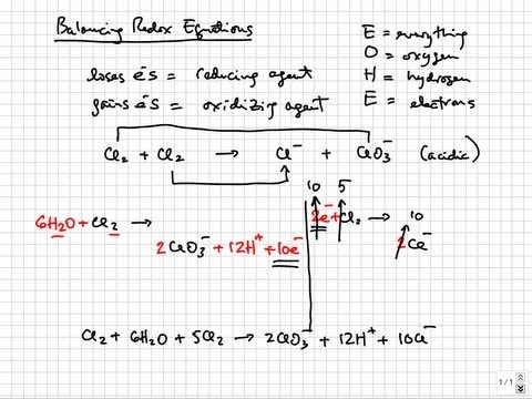 Solution Stoichiometry - Balancing redox equations | College & AP Chemistry Tutorial 06