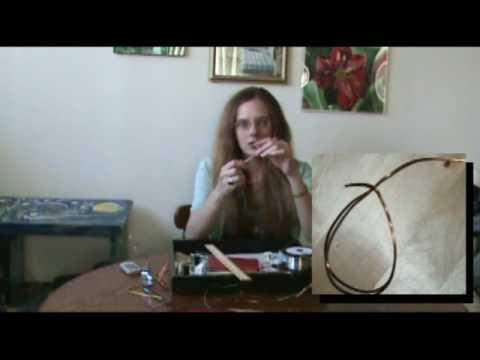 String-Art Pendant (Peruvian Thread Earrings)