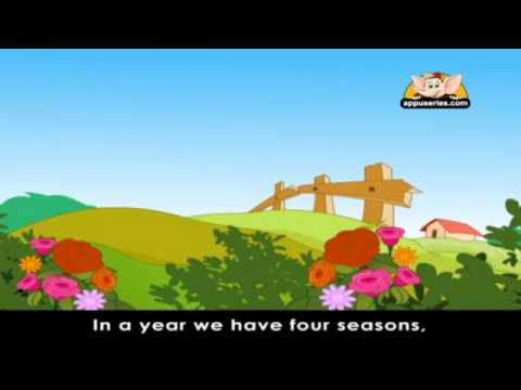 Rhymes for Learning English with Lyrics - Time, Weather and Seasons