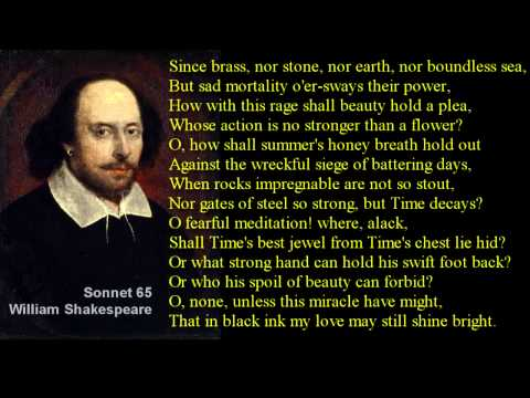 Shakespeare Sonnet 65 with text