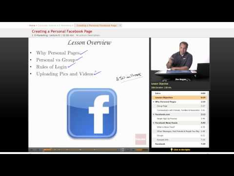 Internet Marketing: Creating a Personal Facebook Page