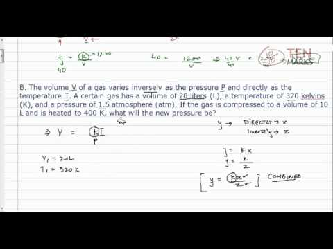 Solve Inverse Variation and Combined Variation Problems