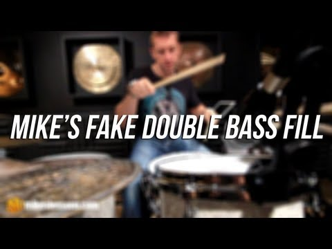 DRUM LESSON: Mike's Fake Double Bass Fill