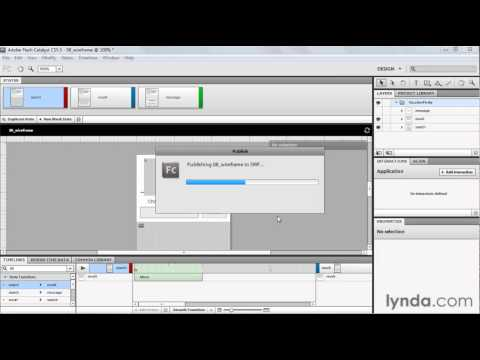 How to export content from Flash Catalyst | lynda.com tutorial