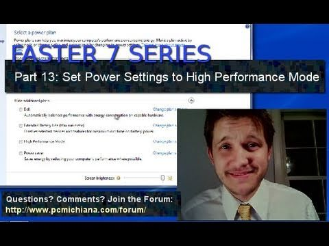 How To Set Windows 7 Power Settings to High Performance - Ep. 13