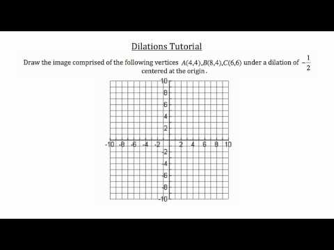 Transformational Geometry- Dilations
