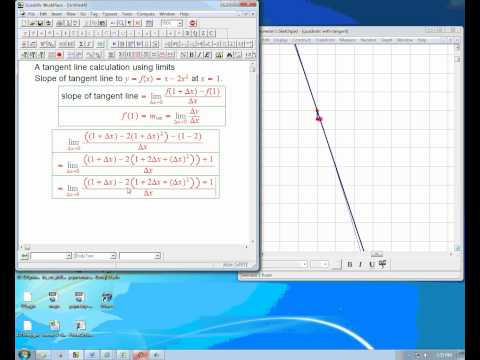 tangent line with limits