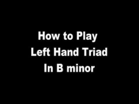 Piano Lesson - B Minor Triad (left hand)
