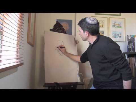 The World: Israeli Cartoonist Shay Charka Draws President Barack Obama