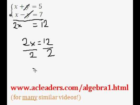 System of Equations - Solving by Addition (pt. 1)
