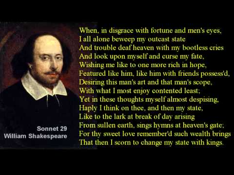 Shakespeare Sonnet 29 with text